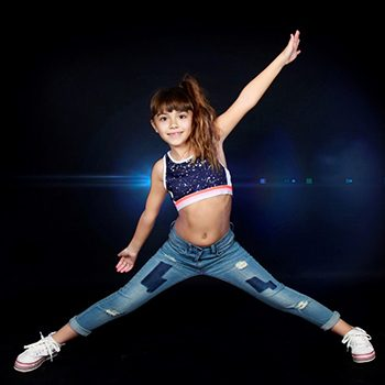 Niña gimnasta